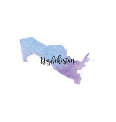 abstract uzbekistan map vector image