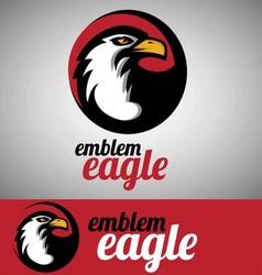 eagle emblem vector image