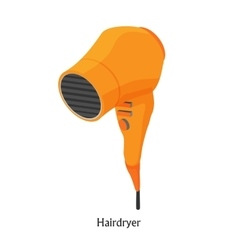 Hair dryers in a beauty salon isometric vector image vector image