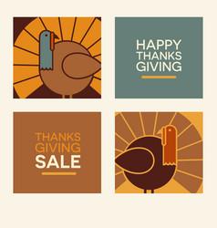 happy thanksgiving design elements vector image vector image