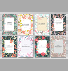 background cards templates vector image