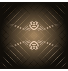 brown background with gold ornament vector image