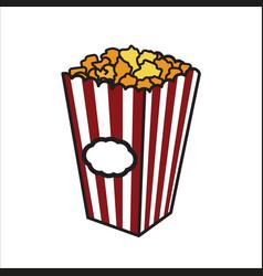 color sketch popcorn vector image vector image