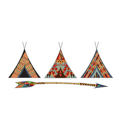 indian wigwams vector image vector image