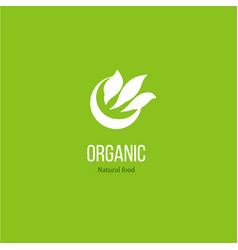 leaves logo for organic product vector image vector image