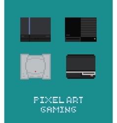 Pixel art retro video game vector image vector image