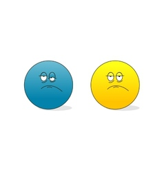 sad and tired emoticons vector image