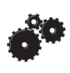 three gears vector image