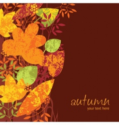 autumn colored leaves vector image vector image