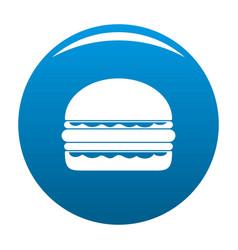 burger icon blue vector image vector image