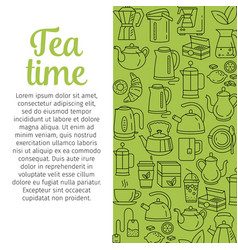 cafe hot drinks thin line menu vector image vector image