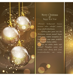 holiday gold vector image vector image