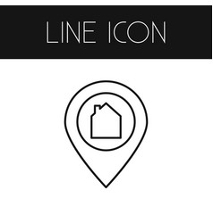 isolated pinpoint outline location element vector image vector image