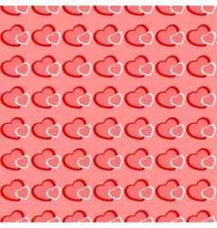 Pink and red hearts seamless Valentine background vector image