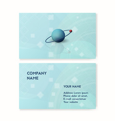 science business card blue vector image vector image