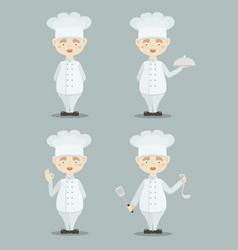 set of funny cooks vector image