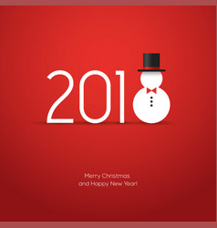 2018 new year creative design with snowman icon vector image