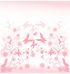 floral time vector image vector image