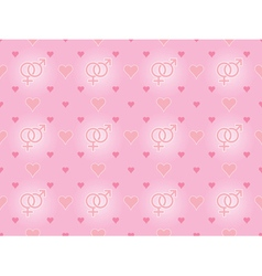 seamless pattern with valentines vector image
