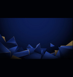 abstract 3d low poly pattern luxury background vector image