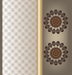Abstract floral on brown shade color background vector