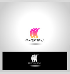abstract trandy curve of in swoosh stylise vector image