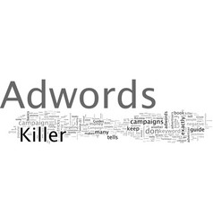 adwords killer review my adwords killer case study vector image