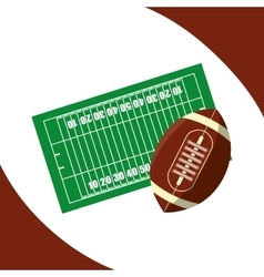 American football icon design vector image