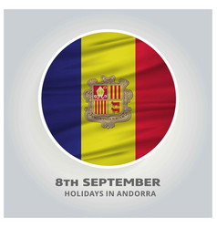 Andorra independence day 8th september abstract vector
