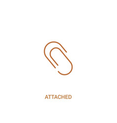 attached concept 2 colored icon simple line vector image
