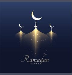 Awesome ramadan kareem design background vector
