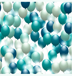 Balloons seamless festive pattern background for vector