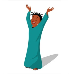 Baptist religious lady singing vector