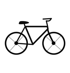 bicycle on white background bicycle sign trendy vector image
