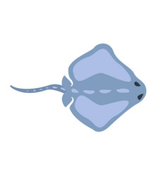 Blue stingray fish part of mediterranean sea vector