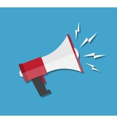 Cartoon megaphone icon vector image