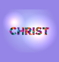 Christ concept colorful word art vector