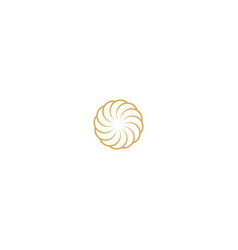 circle decorative company logo vector image