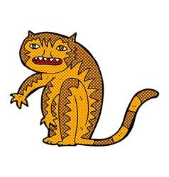 Comic cartoon tiger vector