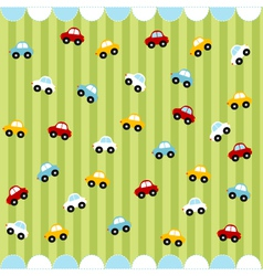 cute seamless pattern with little cars vector image vector image
