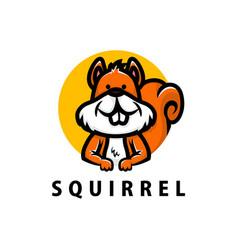 cute squirrel cartoon logo icon vector image