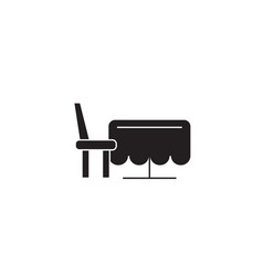 dining table black concept icon dining vector image