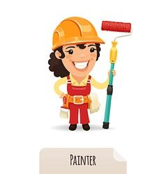 Female painter vector