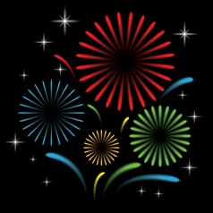Fireworks with star vector image