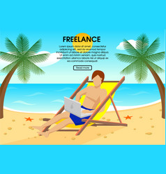 flat freelance concept vector image