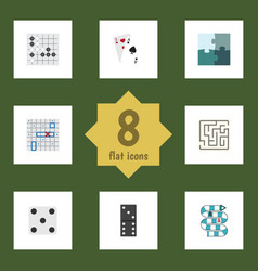 Flat icon play set of gomoku labyrinth ace and vector