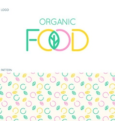 Food logo and pattern vector