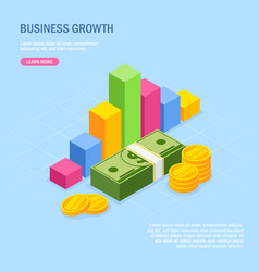 forecast currency rate business diagram vector image