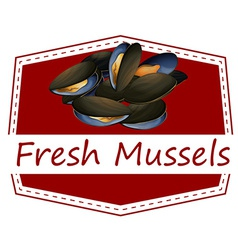 Fresh mussels vector