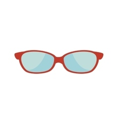 glasses whit red frame vector image